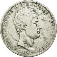 Monnaie, États Italiens, SARDINIA, Carlo Alberto, 5 Lire, 1837, Genoa, TB+ - Monnaies Régionales