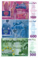 DEUTSCHE PARKBANK SPECIMEN // 300 / 600 / 1000 Euros - [17] Falsi & Campioni