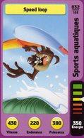 Trading Card Carte Auchan La Fete Du Sport 2014 Verso Domino Tex Avery N° 32 - Trading Cards