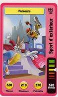 Trading Card Carte Auchan La Fete Du Sport 2014 Verso Domino Tex Avery N° 90 - Non Classificati