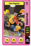 Trading Card Carte Auchan La Fete Du Sport 2014 Verso Domino Tex Avery N° 17 - Trading Cards