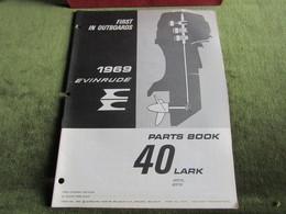 Evinrude Outboard 40 Lark Parts Book 1969 - Boats
