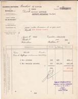 FACTURE---60---BRESLES-( Représentant Charaudeau-destribats-- PAU-sucrerie & Raffinerie à LAPUYADE MONTAUT-BETHARAM 1938 - France