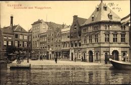 Cp Haarlem Nordholland Niederlande, Kaasmarkt Met Waaggebouw - Nederland