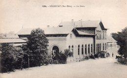 CPA, Sélestat, La Gare, Animée - Selestat