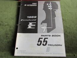 Evinrude Outboard 55 Triumph Parts Book 1969 - Schiffe