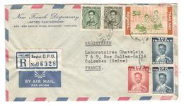 12675 - Recommandée Par Avion Pour La France - Thaïlande