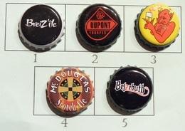 Lot N° 07-3 : 5 Capsules De Bière (parfait état - Pas De Trace De Décapsuleur) Beer - Cerveza - Birra - Bière