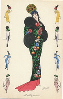 Superb Art Nouveau La Mode Persane Signed By Xavier Sager  Persian Fashion BG Paris 562 - Iran