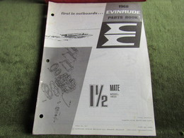 Evinrude Outboard 11/2 Mate Parts Book 1968 - Boats