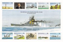 Tanzanie - 2e Guerre Mondiale, Combats Navales Dans Le Pacifique, Churchill - 10 Val Neufs // Mnh - Seconda Guerra Mondiale