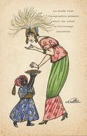 Superb Art Nouveau La Mode Persane Signed By Charles Naillod Persian Fashion Esclave Noir Black Slave - Iran