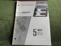 Evinrude Outboard 5 Angler Parts Book 1968 - Schiffe