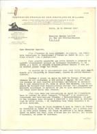 Lettre à Entête Fédération Française Des Amateurs De Billard 1947 Avec Les Résultats Du Championnat De Montpellier (jm) - Biliardo