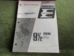 Evinrude Outboard 91/2 Sportwin Parts Book 1968 - Boats