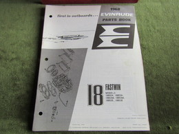 Evinrude Outboard 18 Fasttwin Model S Parts Book 1968 - Schiffe