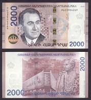 Armenien / Armenie / Armenia 2018, Tigran Petrosian, World Chess Champion, 2000 Dram - UNC - Arménie