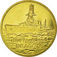 Monnaie, Pologne, Dragon, Light Cruiser, 2 Zlote, 2012, Warsaw, TTB, Laiton - Pologne