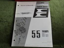 Evinrude Outboard 55 Triumph Model S Parts Book 1968 - Boats