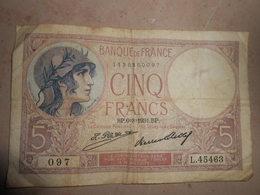 5 Francs  1931 - 5 F 1917-1940 ''Violet''