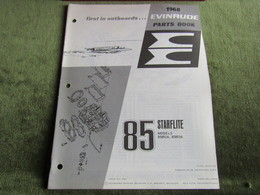 Evinrude Outboard 85 Speedfour Model S Parts Book 1968 - Boats