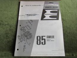 Evinrude Outboard 85 Starflite Model S Parts Book 1968 - Bateaux