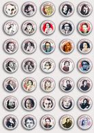 35 X Writer Marguerite Duras ART BADGE BUTTON PIN SET  (1inch/25mm Diameter) - Celebrities