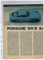 PROVA SU STRADA PORSCHE 911 S 2,4 ESTRATTO DA RIVISTA 4RUOTE - Automobilismo - F1