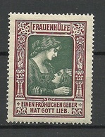 Germany Or Austria Frauenhilfe Charity For Women * - Vignetten (Erinnophilie)