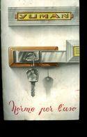 NORME PER L'USO FRIGORIFERI YUMAN USA Vintage DOMOWATT MILANO ANNI 50 E1 - Altri Apparecchi