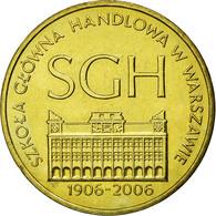 Monnaie, Pologne, 100th Anniversary - Warsaw School Of Economics, 2 Zlote, 2006 - Pologne