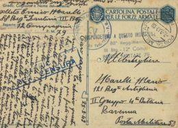 FRANCHIGIA POSTA MILITARE 79 1943 BELGODERE CORSICA X P. M. 53 DOBRUS RUSSIA - 1900-44 Vittorio Emanuele III