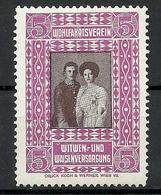 AUSTRIA Österreich Wohlfahrtsverein Witwen- Und Weisenversorgung Charity Wohlfahrt Vignette * - Ongebruikt