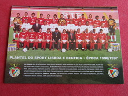 Plantel Do Sport Lisboa E Benfica - Época 1996/1997 - Football