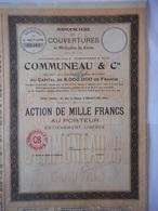 Maison COMMUNEAU Manufacture De Couvertures       BEAUVAIS 1925 - Industrie