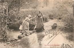 La Vie Aux Champs - Traversée Du Ruisseau - Agriculture