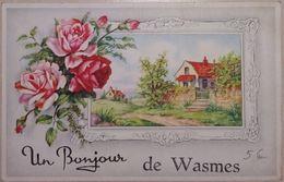 Un Bonjour De Wasmes Carte Fantaisie - Colfontaine