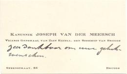 Visitekaartje - Carte Visite - Kanunnik Joseph Van Der Meersch - Bruges Brugge - Cartes De Visite