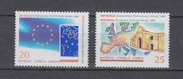 Zypern 1995 ,  Michel Nr:  860/61   **  ,  Europäischer Kulturmonat, Nikosia - Europäischer Gedanke