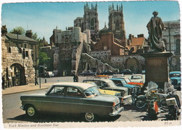 York: FORD CONSUL MKII, SINGER GAZELLE III CONV., VAUXHALL VICTOR, MINI, FORD ANGLIA, SCOOTER, MOTORCYCLES - Toerisme