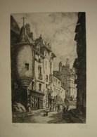 Lot. 1012. Gravure De Charles Nollet. Signée En Bas à Droite. Paris Rue D'Hautefeuille - Prints & Engravings