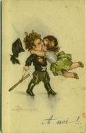 BUSI SIGNED 1920s POSTCARD -  KIDS WITH FASCIST UNIFORM - EDIT DELL'ANNA GASPERINI 645-3 (BG78) - Busi, Adolfo