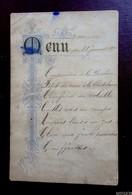 Menu  Du 28 Janvier 1894 - Menus