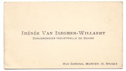 Visitekaartje - Carte Visite - Irénée Van Iseghem - Willaert - Bruges Brugge - Cartes De Visite