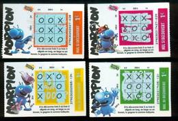 Grattage FDJ - FRANCAISE DES JEUX - Série Complète MORPION 37903 - Tickets Gagnants - Billets De Loterie