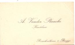 Visitekaartje - Carte Visite - Handelaar A.Vander Plancke - Bruges Brugge - Cartes De Visite