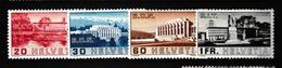 SUISSE 1938:  La Série Complète Batiments  SDN + BIT,  Neufs* - Schweiz