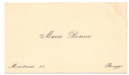 Visitekaartje - Carte Visite - Marie Bonne - Bruges Brugge - Cartes De Visite