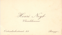 Visitekaartje - Carte Visite - Vleeshouwer Henri Neyt - Brugge - Cartes De Visite