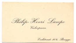 Visitekaartje - Carte Visite - Veekoopman Philip Henri Lampo - Brugge - Cartes De Visite